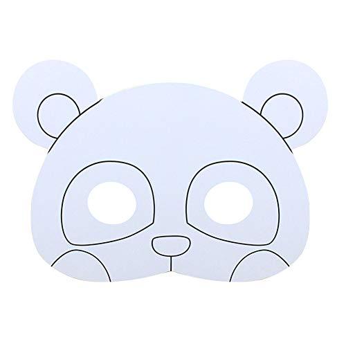 Verf in eenvoudig gezichtsmasker voor kinderkunst handwerk masker DIY Panda