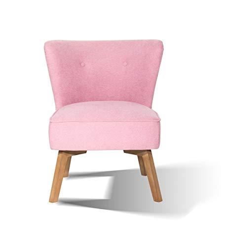 SIT Sessel Vito mit Stoffbezug, pink. Polstersessel im skandinavischen Design