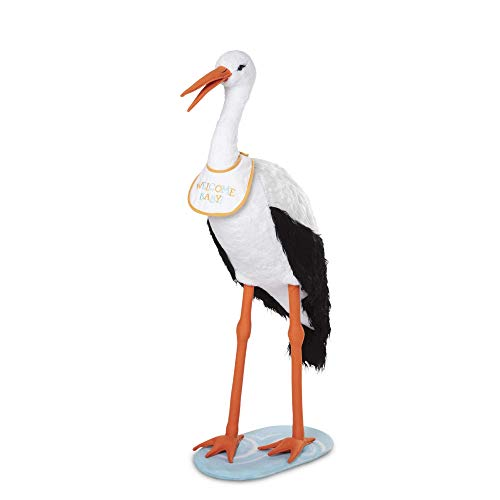 Melissa & Doug Lifelike Plush Stork Giant Standing Stuffed Animal (3+ Feet Tall, Great Gift for Girls and Boys - Best for 3, 4, 5 Year Olds and Up)