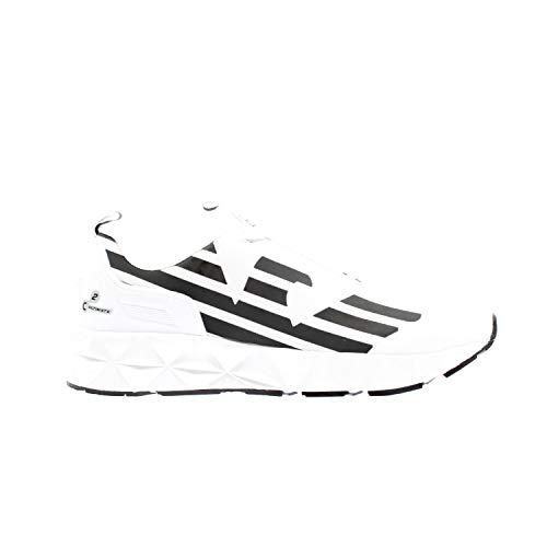 Emporio Armani Ea7 Xcc52 Zapatillas Moda Hombres Blanco/Negro - 40 - Zapatillas Bajas