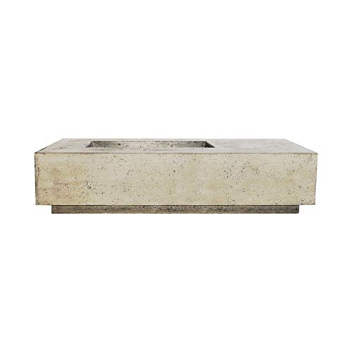 Amazing Deal Prism Hardscapes Tavola 5 Concrete Gas Fire Pit (PH-409-3LP), Propane, Natural, 80x38-I...