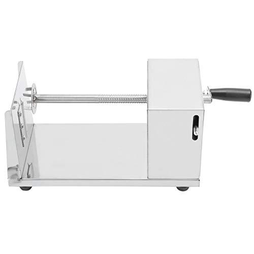 Coupe-pommes de terre Machine de découpe manuelle en spirale en acier inoxydable Accessoires de cuisine Outils de cuisson Argent
