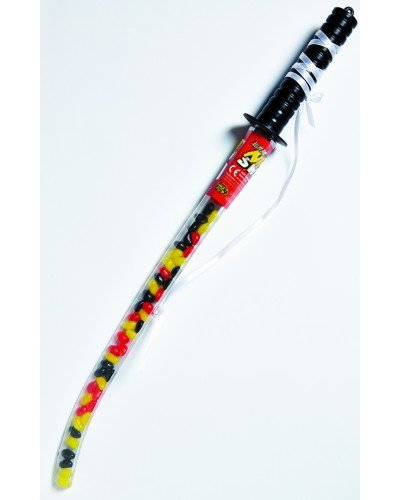 Holland Plastics Original Brand 1 X Épée en plastique Ninja avec fèves à la gelée ! Un très beau cadeau !