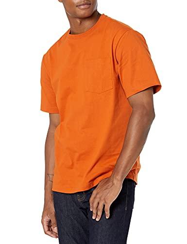 Amazon Essentials Men's Short-Sleeve Heavyweight Workwear Pocket T-Shirt, Gold, Small