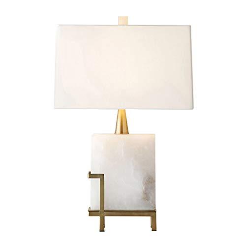 JYDQM Dormitorio Americano lámpara de Mesa Chino Sala de Estar de mármol Simple lámpara de Noche Villa Hotel Modelo habitación