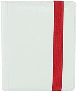 Dex Protection Dex Binder 4 White Deluxe Portfolio 4-Pocket Velvet-Lined Album Holds 160 Cards Double Sided, Side-Load Binder fits Magic, Pokemon, Yu-Gi-Oh