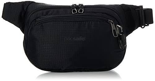 Pacsafe Vibe 100-4 Liter Anti Theft Fanny Pack, Fits 7 inch Tablet, Jet Black, Sac Homme, Noir Profond, Taille Unique