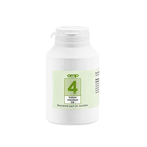 Schüssler Salz Nr. 4 Kalium chloratum D6 | 1000 Tabletten | Das Salz der Schleimhäute | glutenfrei