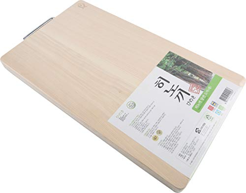 Boumbi Hinoki Wood Reversible Cutting Board(17.3x9.8x1.05 RM_Large)