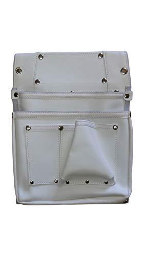 コヅチ 鋲止仮枠釘袋2段マチ付 白 牛革釘袋 SH-522