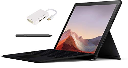 New Microsoft Surface Pro 6 – 12.3' Touch-Screen - Core i7-8650U -16GB Memory - 512GB Solid State Drive – Black Color, Windows 10 Pro, Bundle: Black Type Cover, Black Surface Pen & GIZPRO USB-C Dock