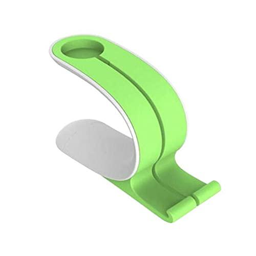 Phjkifd Soporte para teléfono móvil 2021 2 en 1 Carga DE Dock Stand Stands DE ACUMENTO DE ACUMENTO para EL Reloj DE Apple para la Tableta de teléfono móvil de Samsung para Xiaomi (Color : Green)