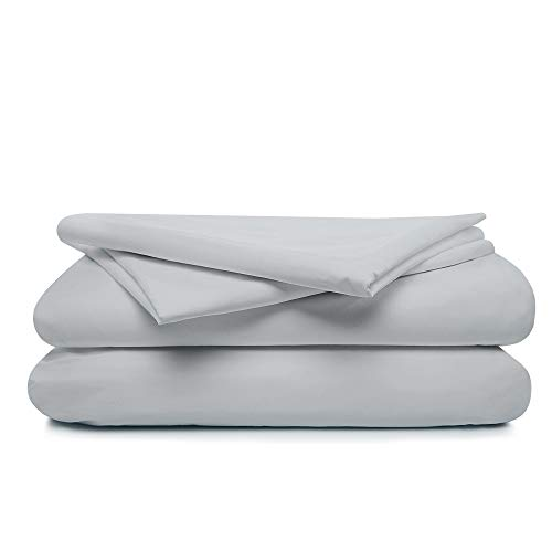 100% Cotton Percale Full Sheet Set - Deep Pocket Sheet - Five Star Hotel Collection - Cool and Crisp - Perfect for Hot Sleep - Long Staple Combed Cotton - 4 Piece Set -Full Size - Steel Gray Color