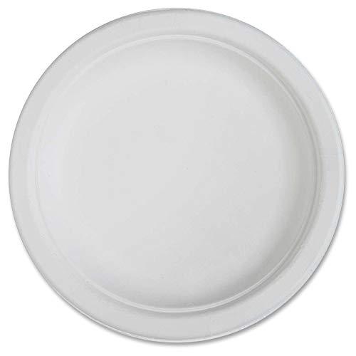 "Genuine Joe Joe Compostable Plates Table Ware, 6"", White"