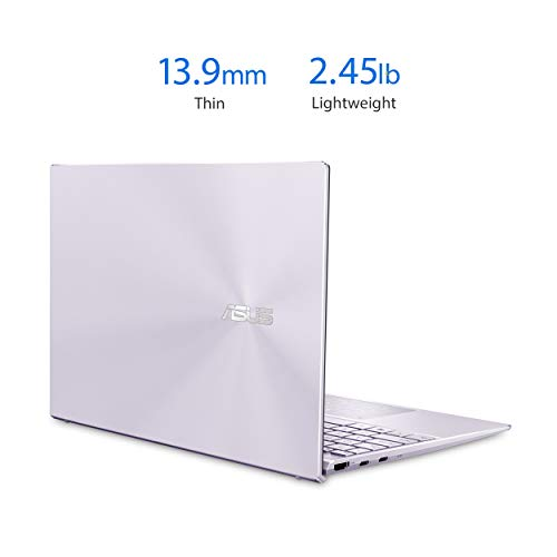 "Product Image 3: ASUS ZenBook 13 Ultra-Slim Laptop 13.3"" Full HD NanoEdge Bezel Display, Intel Core i5-1035G1 Processor, 8GB RAM, 256GB PCIe SSD, NumberPad, Windows 10 Home, Lilac Mist, UX325JA-AB51"