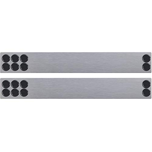 JILoffice Magnetic Strip Bulletin Board Bar, 2 Pieces, 2 x 15 Inch for Office Home and School