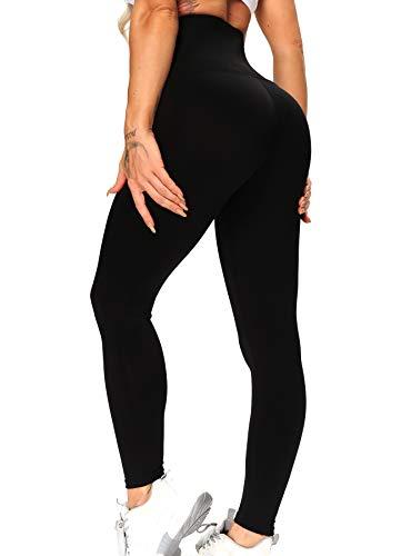 FITTOO Damen Leggings mit Korsett zum Training, Figurformende Capri für Yoga Joggen, Sport Mädchen Abnehmen Schlanke Fitnesshose #1 Schwarz mit Korsett S