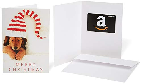 Amazon.com Gift Card in a Greeting Card - Christmas Puppy Design