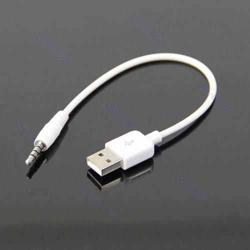 guangzhou Adaptador de Cable de Carga de sincronización de Datos USB 3,5 mm para Apple iPod Shuffle 2do Cable de teléfono móvil