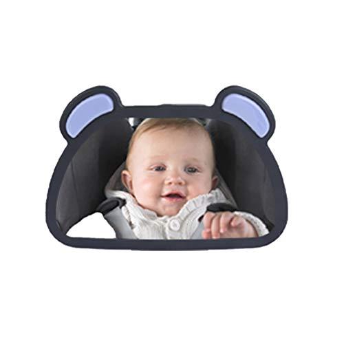 Espejo de Bebé para Coche Asiento for bebé ajustable Asiento trasero Vista trasera Vista trasera Interior del automóvil Bebé Niño Monitor Monitor de reversión del asiento Retrovisor espejo Espejo Retr