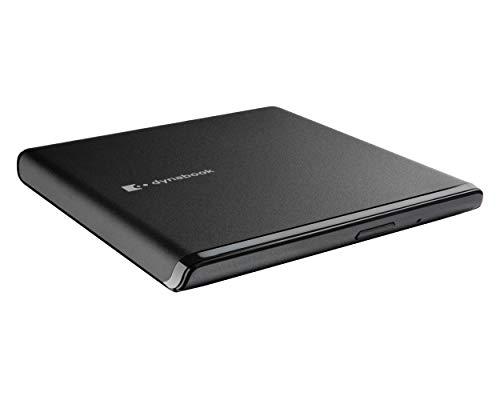 Lecteur de stockage portable DVD-RW USB 2.0 ultra mince de 13,5 mm Dynabook. 1 Go de RAM 16 Go d'espace libre sur le disque. Compatible avec la plupart des CD-ROM, CD-R et CD-RW.