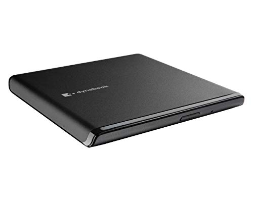 dynabook 13.5mm Ultra Slim USB 2.0 DVD-RW Portable Storage Drive. 1GB RAM 16GB Free Disc Space. Compatible with most CD-ROM, CD-R and CD-RW.