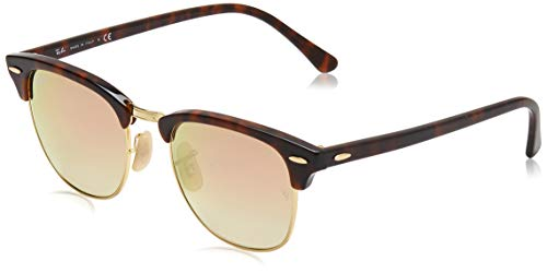 Ray-Ban Unisex Rb 3016 Sonnenbrille, Mehrfarbig (Gestell: rot (havana),Gläser: kupferverlauf 990/7O), Medium (Herstellergröße: 51)