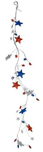 Fantastic Craft Americana Star Garland, 4.5'