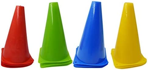 high quality labworkauto 12 x Plastic Sports Marker Cones 4 Colors for Outdoor Activity Football popular Pitch Training or Festive popular Events online sale