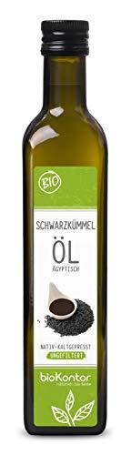 Schwarzkümmelöl ägyptisch BIO UNGEFILTERT 500ml I nativ und kaltgepresst von bioKontor