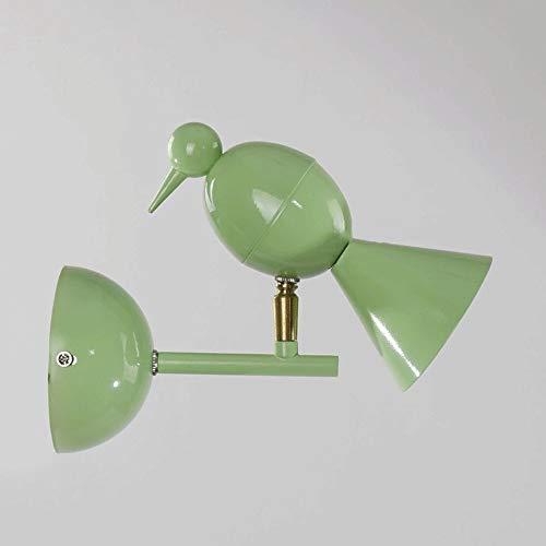 Wandlamp, Nordic modern, eenvoudig, dierenvorm, wandvorm, vogel met G4 LED-lichtbron creatieve kindervogel wandlamp voor woonkamer, slaapkamer, kinderkamer (kleur: grijs)