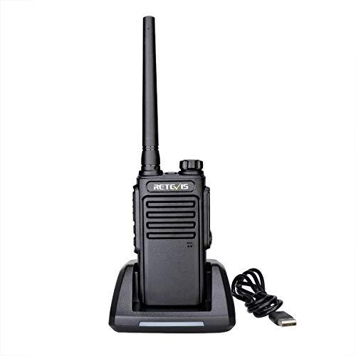 Retevis RT47V MURS Radio Handheld,Long Range Two Way Radio Waterproof for Adults, Rechargeable Portable Hands Free Walkie Talkies Outdoor Travel (1 Pack)