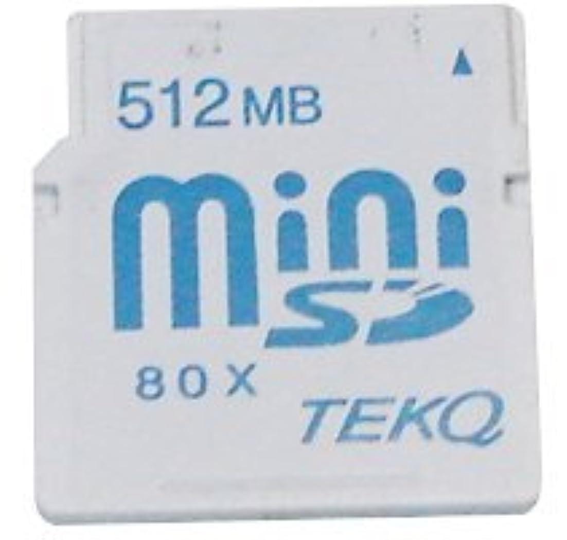 決定監督する秘密のTEKQ ミニSDカード MiniSD 512MB