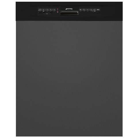 Smeg PL5222N - Lavavajillas semiintegrado de 13 plazas, A++ (apta para lavavajillas (Semi integrado, gris, tamaño completo (60 cm), negro, botones, 30 cm)