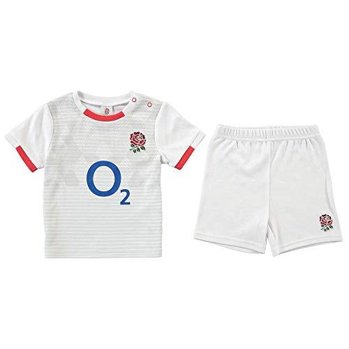 Brecrest Juego de camiseta y pantalones cortos para bebé de Inglaterra Rugby – 2020/21