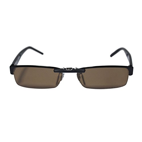 Custom Polarized Clip on Sunglasses For Ray-Ban RB6182 53x17 (Brown)