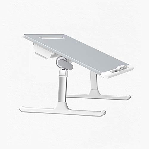 In hoogte verstelbare Laptop Bed Tafel, inklapbaar onderstel met Storage Drawer, Portable Notebook Bed Tray Bureau, voor eten, werken, Tekenen
