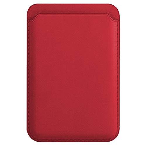 kkkie Funda para tarjetas de crédito y dinero en efectivo, para Apple iPhone 12 Mini/iPhone 12/12pro /12 pro max Slim Wallet Smartphone Tarjetero para pegar ID Card Holder (rojo)