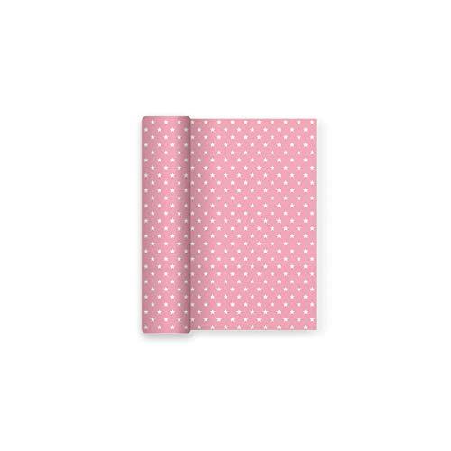 Mantel papel decorado Estrellas Rosa Baby ideal fiestas