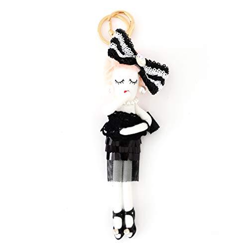 バッグチャーム 大人 かわいい オシャレレディードールチャーム レース ビジュー サングラス 人形 大人 キーホルダー 女の子 アフロ バックチャーム レディース レデイース キ-ホルダ- バッグ チャ-ム vnsa-c493 (C)