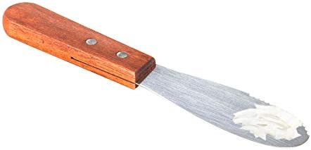 7 Inches Sandwich Spreader by Tezzorio Wide Stainless Steel 3 1 2 Long Blade with Wooden Handle product image