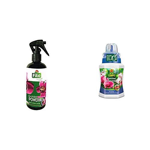 Fito X301002 Power Spray Orchidee, Verde, 5.7x5.7x19.0 cm & Compo Concime Liquido per Orchidee, Fertilizzante Organo Minerale, Stimola la Fioritura, 250 Ml, 7 X 6.3 X 15.5 Cm