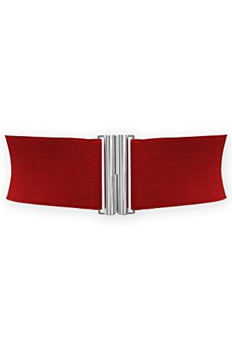 BlackButterfly 7.5 CM Ancho Elástico Cintura Cinturón (Rojo, ES 38-40)