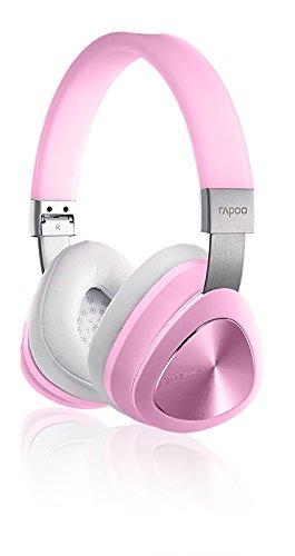 Rapoo S700 Bluetooth Stereo NFC Headset/ Kopfhörer (integriertes Mikrofon, Bluetooth 4.1) pink
