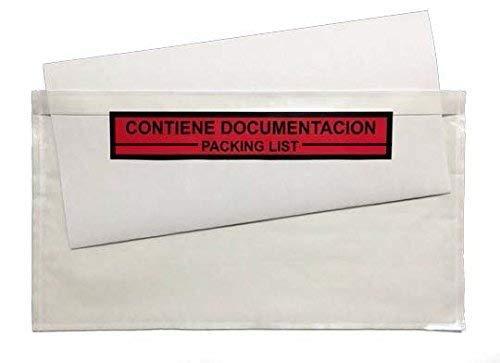 Sobre Contiene Documentación Impreso 235x132mm Transparente Caja de 250 UDS.