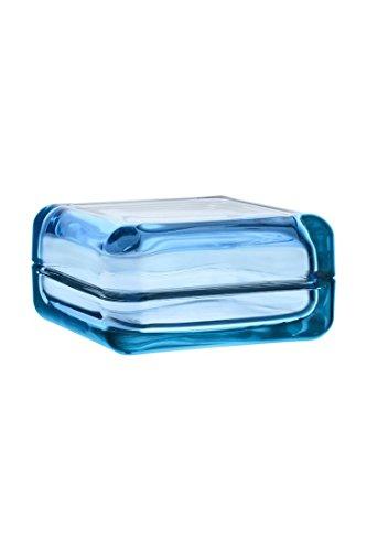 Iittala 111080 Vitriini Glas Box, 108 x 108 mm, hellblau