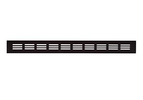 40x500mm Aluminium Lüftungsgitter Dunkelbraun Stegblech Lüftung Alu-Gitter Gitter Möbelgitter Möbellüftung