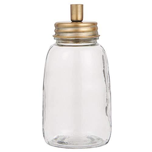 IB Laursen - Kerzenständer für dünne Stabkerzen - mit Glaskorpus - Messing - (ØxH): 8,5 x 17,5 cm