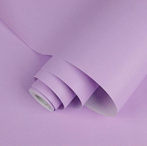 Abyssaly Purple Decoration Self-Adhesive Film Peel and Stick Wallpaper 17.7 in by 16.4 Ft Can Cover 24.2 Square feet