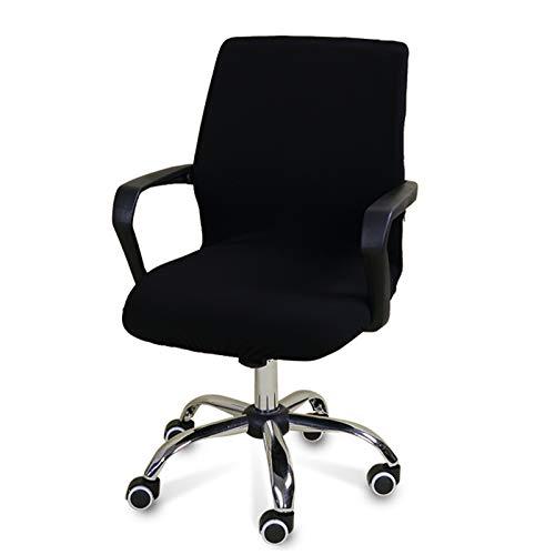 WENBING - Custodia di protezione universale elasticizzata in jacquard, sedia da ufficio, copertura estensibile, lavabile, colore: Nero
